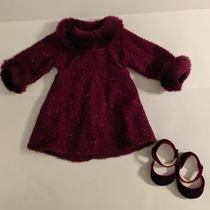 American Girl Doll Garnet Holiday Outfit
